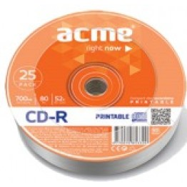 Диск CD-R, 700Mb, 52х, 80min, Printable, Shrink (25) (d.002238)